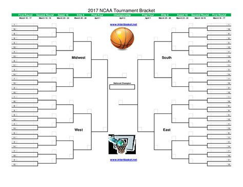 Mba Competition Exle by Get Your Printable Ncaa Tournament Bracket For 2017