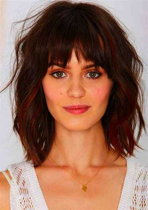 medium haircuts with bangs for round faces medium length curly 20 haircuts with bangs for round faces hairstyles