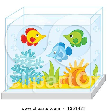 aquarium design eps clipart of a rear view of families watching fish at an