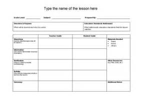 activity lesson plan template lesson plan template format template