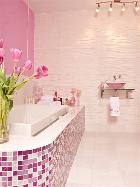 Pink Tile Bathroom Ideas by 37 Pink Bathroom Wall Tiles Ideas And Pictures