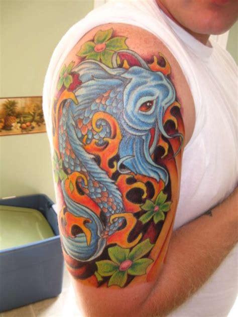 koi fish upstream tattoo koi fish tattoos pictures info