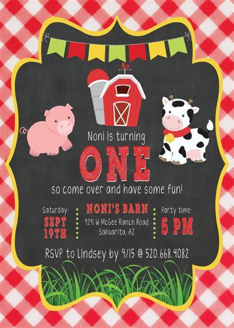 farm themed birthday invitations barnyard bash invite farm party invite digital download