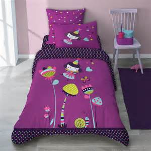parure de lit enfant prunette s 233 l 232 ne gaia