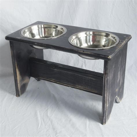 wooden bowl stand elevated bowls stand wooden 2 bowls 350 mm