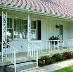 Ranch Curb Appeal - add curb appeal to your midcentury home with ornamental metal porch columns 3 sources for this