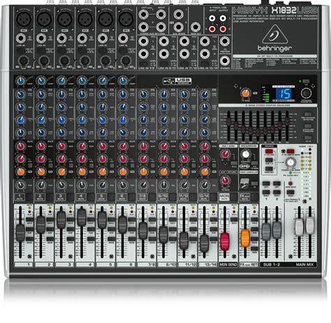 Mixer Audio Behringer 6 Chanel x1832usb analog mixers mixers behringer categories