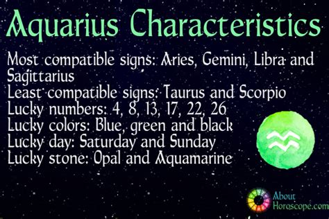 aquarius traits personality and characteristics