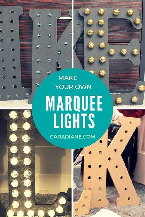 make your own marquee lights wood letters
