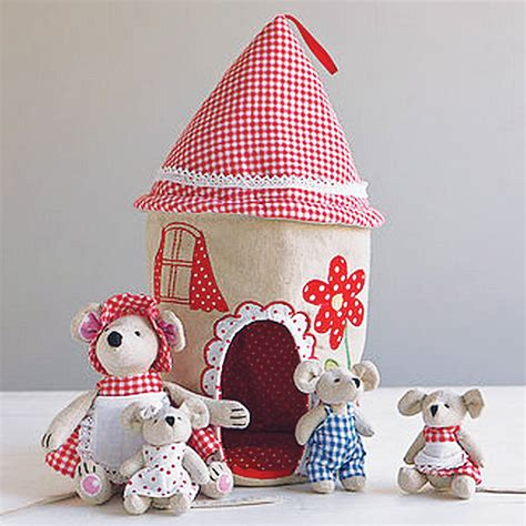 fabric house fabric mouse house and family