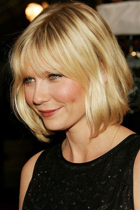 Blonde Bob With Bangs | 12 pretty mid length hairstyles for women pretty designs