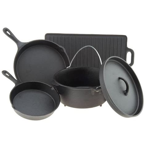 best cast iron pot outdoor gourmet 5 cast iron cookware set academy