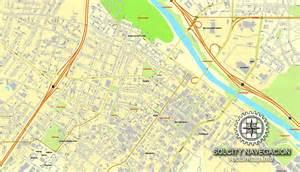 macon us printable vector city plan map