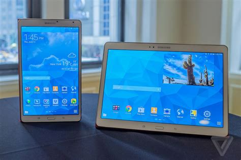 Dan Spek Samsung Tab 8 Samsung S Razor Thin Galaxy Tab S Takes Another Run At The The Verge