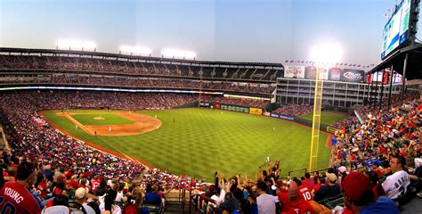 rangers sections cook son stadium views rangers ballpark in arlington