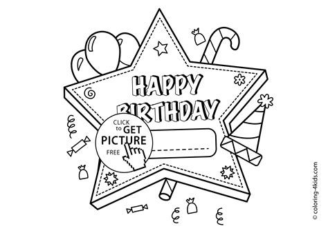 happy star coloring page happy birthday printable star coloring pages for kids