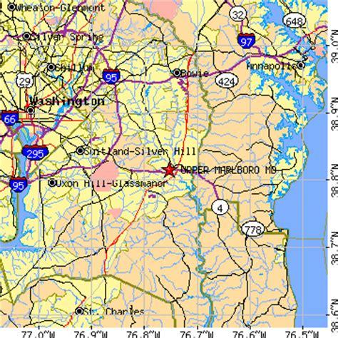 zip code map upper marlboro md upper marlboro maryland md population data races