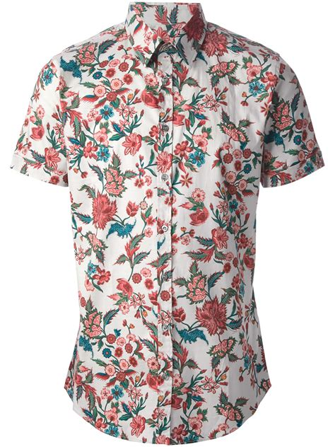 floral print shirt gucci floral print shirt in floral for multicolour