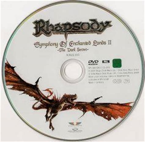 Dvd Rhapsody Of Visions From The Enchanted Lands 2 Dvd rhapsody symphony of enchanted lands ii the secret cd dvd 2004 limited edition