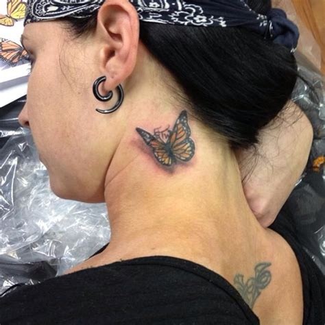butterfly neck tattoo 71 sweet butterfly neck tattoos