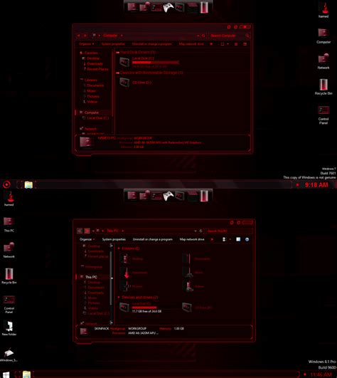 themes line pc jarvis red skinpack for windows 7 8 8 1 windows10 themes