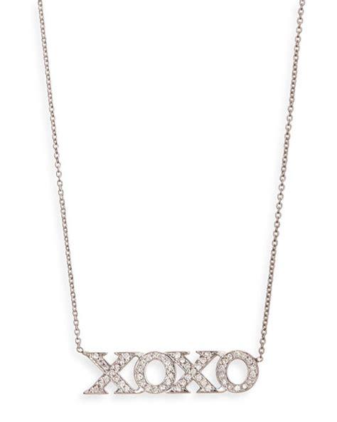 roberto coin 18k white gold xoxo necklace
