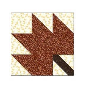 all stitches maple leaf paper piecing quilt block