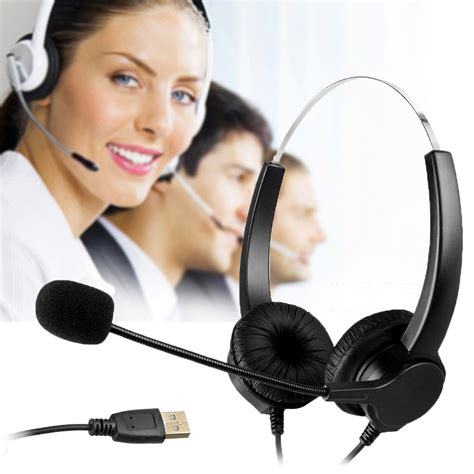 hands free desk phone new hands free call center usb plug binaural headset with