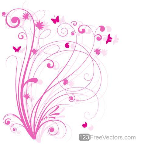 design free vector floral design 5 pink floral background by
