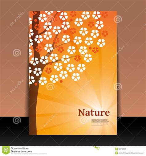 cover design nature nature flyer or cover design stock images image 32210804