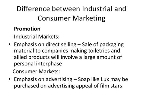 Mba Difference Between Marketing And Selling by Difference Between Indusrial Marketing Consumer Marketing