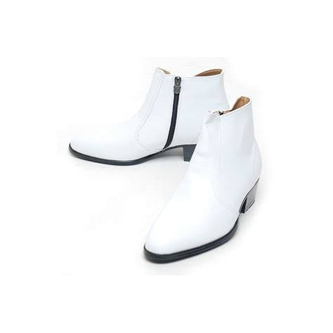 white high heel ankle boots s toe white leather side zip high heels ankle boots