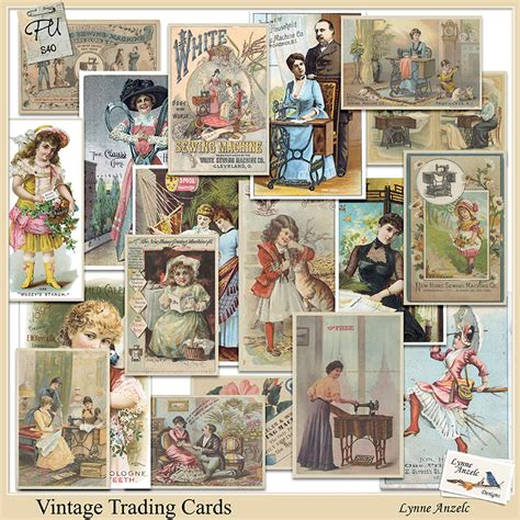 vintage trading card template vintage trading cards by lynne anzelc design