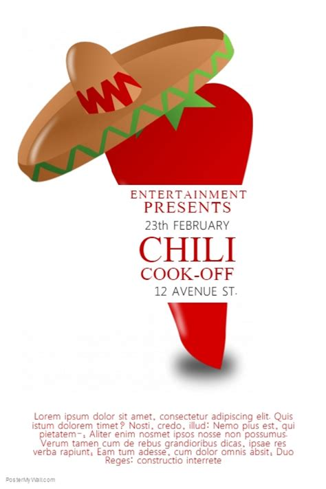 chili cook off contest template postermywall