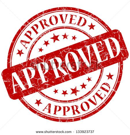Stempel Lu approved st stock photo 133923737