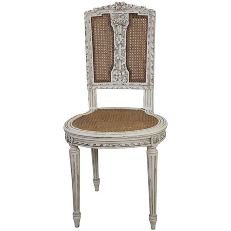 White Dining Room Chair antique louis xvi cane back vanity chair at 1stdibs