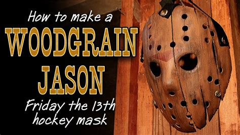 How To Make A Jason Mask Out Of Paper - how to make a quot woodgrain quot jason mask friday the 13th diy