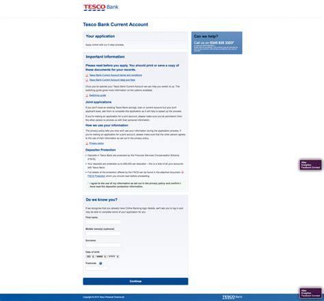 tesco bank register tesco bank uk account application digital banking