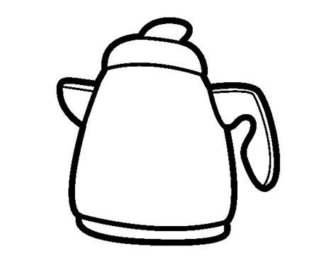 imagenes para colorear jarra dibujo de tetera para colorear dibujos net
