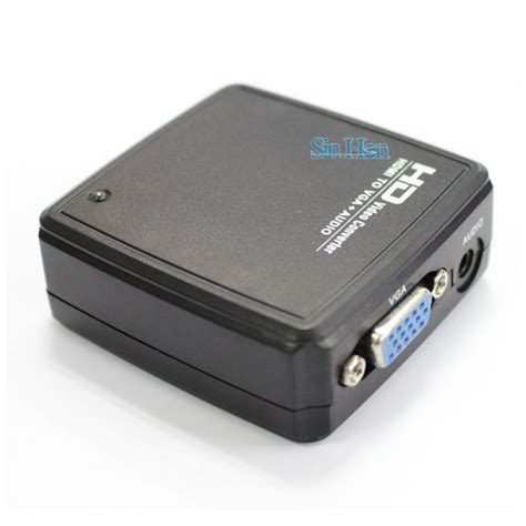 Adaptor Mini Box Supply 5 Output hd 1080p mini hdmi to vga adapter with 3 5mm audio output