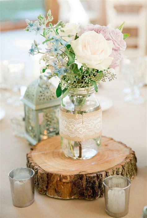 28 best and beautiful rustic wedding centerpieces on a budget