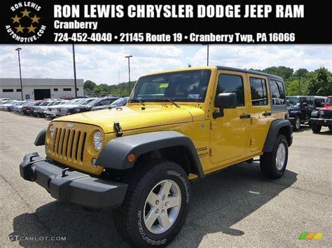 baja jeep wrangler 2015 baja yellow jeep wrangler unlimited sport 4x4