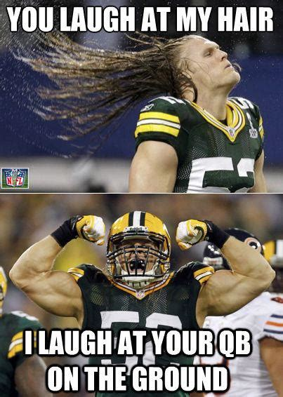 Green Bay Packers Memes - clay matthews hair daily snark