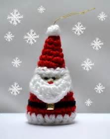 crochet santa christmas ornament pattern by crochet arcade