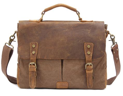 Fka Tas Tote Fashion Wanita Retro Canvas Bag vintage crossbody bag canvas leather shoulder bags messenger bag leather