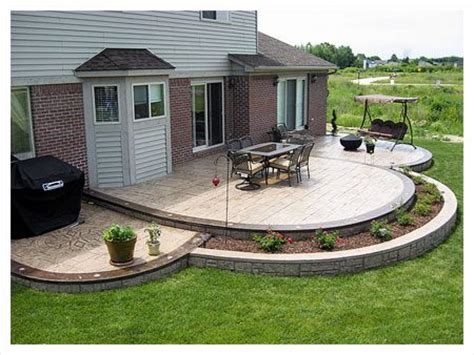 backyard sted concrete patio ideas sted concrete patio