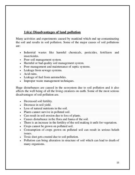 Land Essay by Land Pollution Essay Docoments Ojazlink