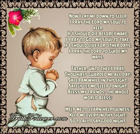 catholic prayer before bed i pray the lord my soul to keep night prayers before sleep