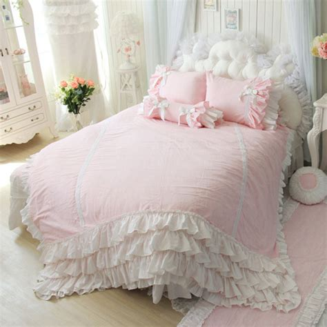 womens bedding luxury cotton 4pcs pink bedding set high quality queen