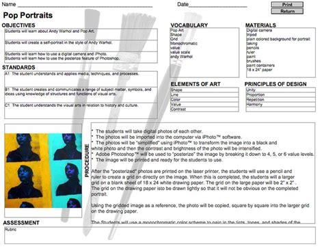 lesson plan template k 12 26 best art rubrics images on pinterest art classroom